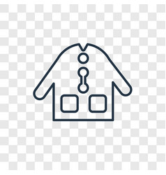 dress cleanin concept linear icon isolated on vector image