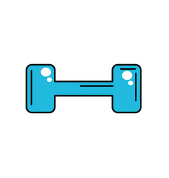dumbbell instrument to do exercise in the gym vector image