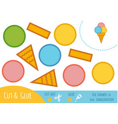 education paper game for children ice cream vector image
