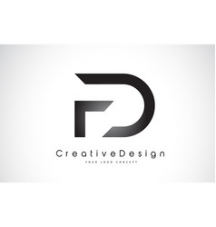 Fd f d letter logo design creative icon modern vector