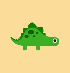 flat icon on background cartoon dinosaur vector image