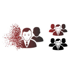 fragmented dotted halftone team icon vector image