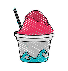 Frozen yogurt icon image vector