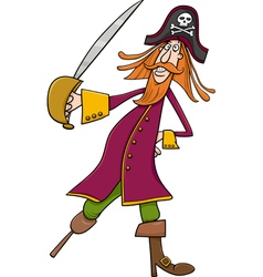 funny pirate cartoon vector image