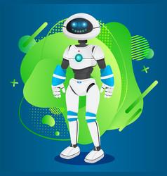 Futuristic humanoid manlike robotic creature vector