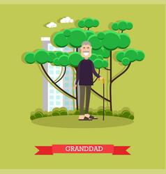 Granddad in flat style vector