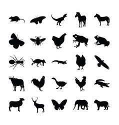 Icons animals vector