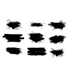 Ink splashes set vector