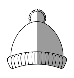Isolated hat of winter cloth design vector