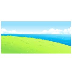 Lake green landscape vector image