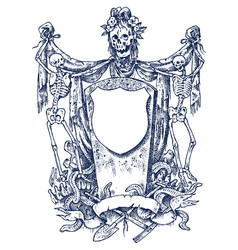 medieval vintage heraldry ornament vector image
