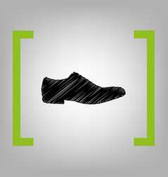 men shoes sign black scribble icon in vector image