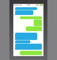 Messenger short message service bubbles text chat vector