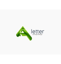 Modern A letter company logo vector image