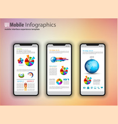 modern touchscreen mockup phones with technology vector image