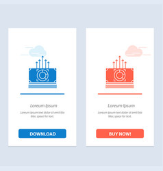 Money bundle bucks transfer blue and red download vector