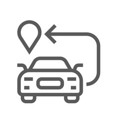 navigation location and map line icon vector image