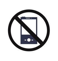 no cell phone vector image