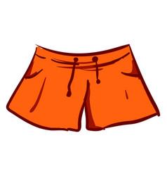 orange woman mini shorts on white background vector image