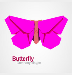 Origami butterfly logo vector