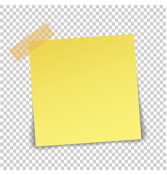 paper sheet on translucent sticky tape with vector image