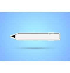 Pencil shaped sticker with eraser and inner shadow vector