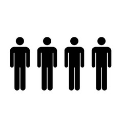 People icon - group of men team symbol for vector