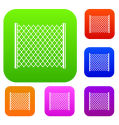 perforated gate set color collection vector image