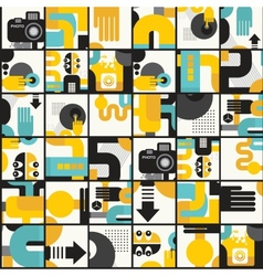 Photo man seamless pattern vector image