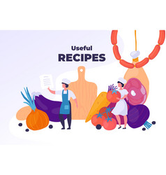 Professional cooking healthy food and restaurant vector