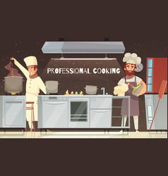 Professional cooking restaurant vector