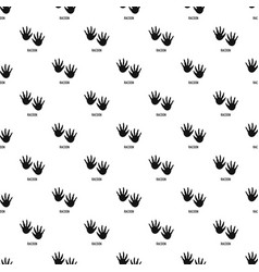 Racoon step pattern seamless vector