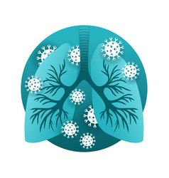 Sars - human lungs infected virus vector