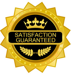 Satisfaction guaranteed icon vector