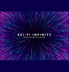 Sci-fi universe infinity abstract background vector