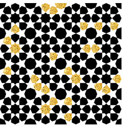 seamless geometric pattern with gold shine vector image