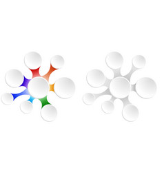 set of rainbow flowers for infographics with space vector image