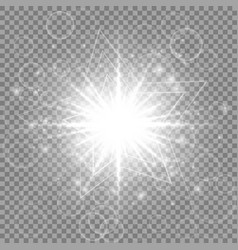 silver new year star vector image
