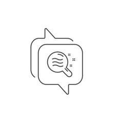 Skin condition line icon search magnifier sign vector