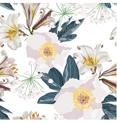 spring flower seamless pattern vector image