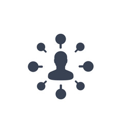 stockholder financier icon isolated on white vector image