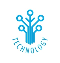 Technology logo vector image
