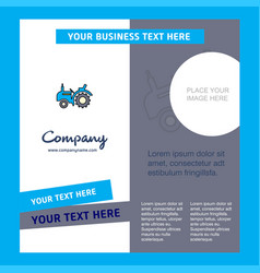 tractor company brochure template busienss vector image