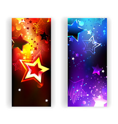 Two Banners with Abstract Stars vector image