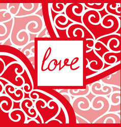 vintage valentines day greeting card with an vector image