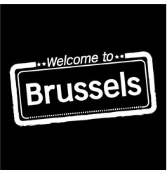 Welcome to brussels city design vector