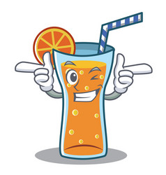 Wink cocktail character cartoon style vector