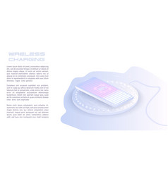 wireless charging smartphone battery vector image
