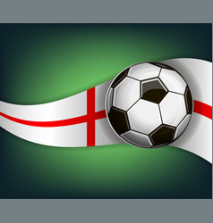 with soccer ball and flag of england vector image