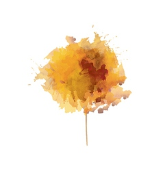 yellow watercolor flower vector image
